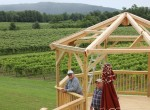 stever hill vineyards gazebo construction