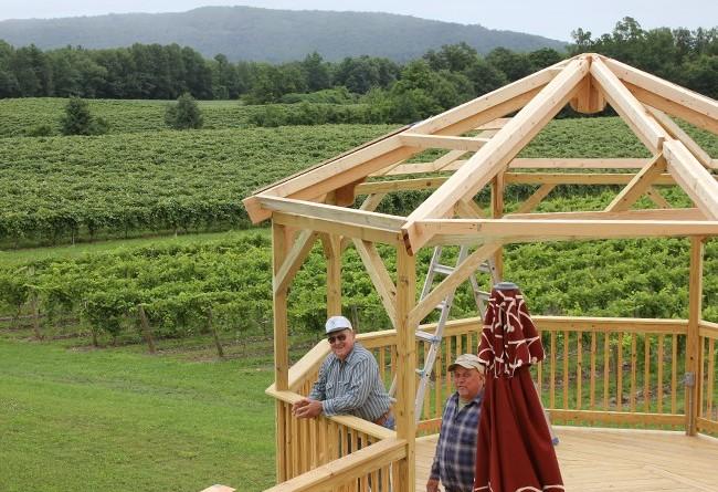 stever hill vineyards gazebo construction