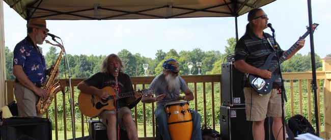 stever hill vineyards live music outside deck
