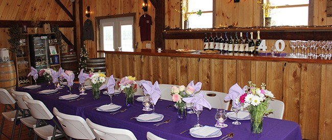 stever hill vineyards private events
