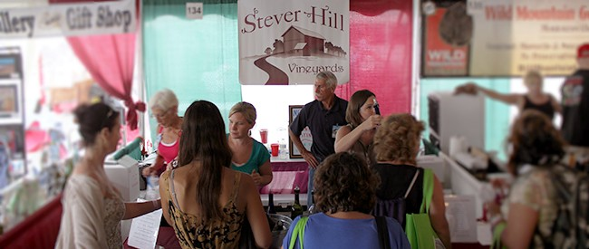 stever hill vineyards tasting booth