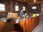 stever hill vineyards tasting room bar progress