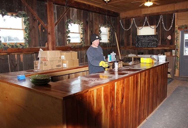stever hill vineyards tasting room bar progress