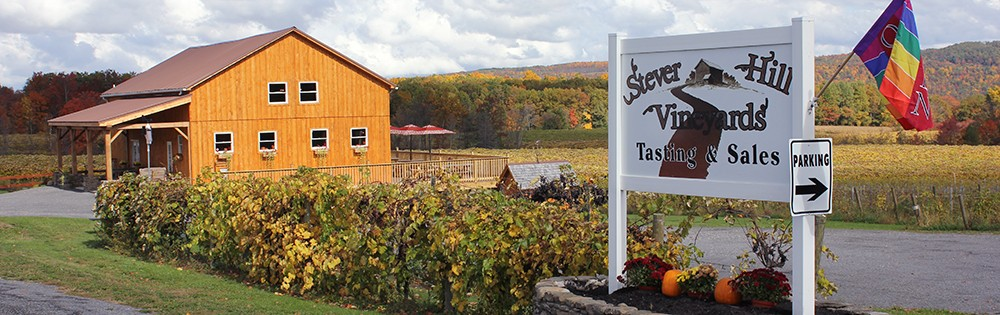 stever hill vineyards tasting room sign home